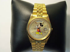 Lorus Mickey Mouse Day Date Gold Tone watch V544-8A50
