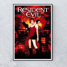 Resident Evil Horror Film Movie Milla Jovovich Glossy Print Wall A4 Poster