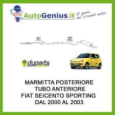 MARMITTA SILENZIATORE POSTERIORE + TUBO ANTERIORE FIAT SEICENTO 1.1 SPORTING