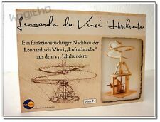 Leonardo da Vinci Hubschrauber Luftschraube Holzmodell Modellbau Echtholz Modell