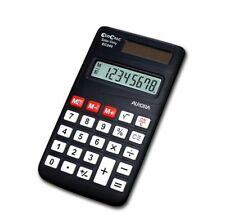 Aurora Ec240 Handheld Pocket Solar Only Eco Calculator - Clear 8 DIGIT Display