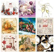 Christmas Paper Napkins for Decoupage Craft Serviettes LUXURY 33x33cm 3PLY x 20