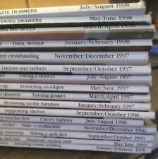 huge lot 16 Fine Woodworking Magazines. 1990 Through 1998.