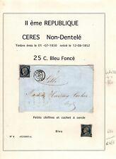 CERES 4 seul et sur Fragment, Oblitérés = Cote 145 € / Lot Classiques France