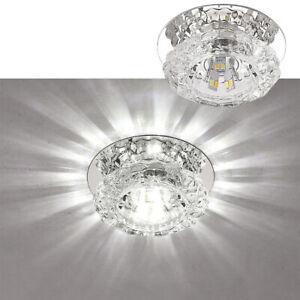5W Crystal Ceiling Lights LED Light Lamp Bedroom Living Room Recessed Spotlights