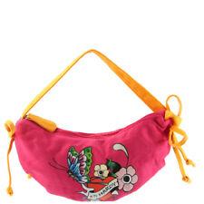 Ed Hardy Girls Iris Crescent Shoulder Bag - Pink
