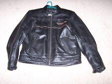 Harley Davidson Men 105th Anniversary Black Leather Jacket Large
