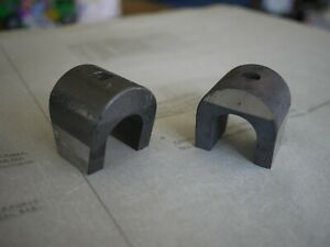 SET OF 2     Vintage Magnets Horseshoe Strong Pull : 50mm x 50mm x 60mm approx