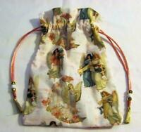 Angels Tarot Card Drawstring Mojo Bag Cotton Pouch ~ FREE SHIPPING