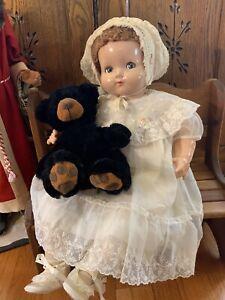 "Vintage Effanbee Sweetie Pie Composition/Cloth Doll;22"", Flirty Sleep Eyes"