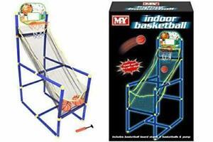 M.Y Portable Indoor/Outdoor Basketball Stand, Net, Hoop, Backboard