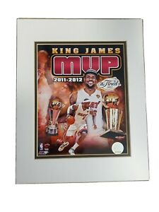 King LeBron James MVP 2011-2012 Matted Print Picture Miami Heat