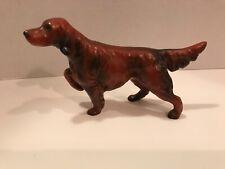 Vintage Red Hunting Dog Irish Setter Figurine Poised &  ready NORLEANS Japan