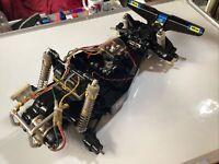 VINTAGE TAMIYA FALCON PARTS...Chassis + Tecnigold Motor.used..