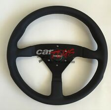MOMO Leather steering wheel MONTECARLO Black leather black stitch 350mm GENUINE