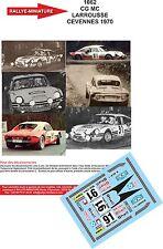 Decals  1/43 réf 1062 SIMCA CG MC LARROUSSE CEVENNES 1970
