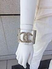 Chanel cuff bracelet lucite large CC