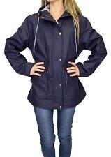 Rain Mac Waterproof Festival Jacket Anorak Hooded Coats RainCoat Womens Ladies x
