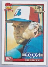 1991 Topps Operation Desert Storm Stamped Baseball Bob Rodgers Card # 321