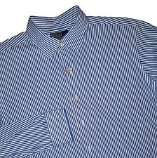 POLO Ralph Lauren Blue Striped Cotton Button Shirt Men XL 17.5