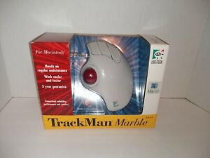 Vintage Logitech Trackman Marble Trackball 3 Button Mouse Model #4122