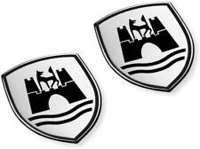 Volkswagen 5C0064317ASXRW Decorative Foil Set Wolfsburg Crest Emblem Satin Black