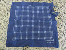 NEW RALPH LAUREN Polo Linen Pocket Square Handkerchief Made in Italy