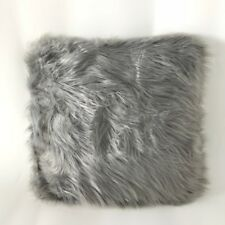 "Luxury Soft Faux Fur Pillow, Pillow Cover Home Grey 18""x18"""