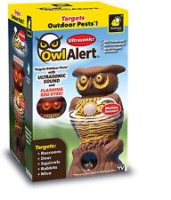 Owl Alert Ultrasonic Statue - Targets Outdoor Pests