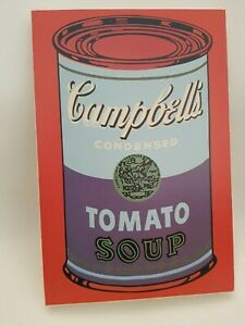Campbell's Condensed Tomato Soup Pop Art Wooden Wall Art Picture Red (CVB)