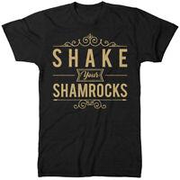 Shake Your Shamrocks St Patricks Day T Shirt Funny Clover Irish Woman Man JA94