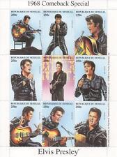 ELVIS Presley 1968 COMEBACK SPECIAL REPUBLIQUE DU Senegal 1998 MNH foglio TIMBRO