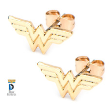 Ww Pierced Post Stud Earring Inox Jewelry Wonder Woman Symbol