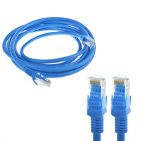 10ft CAT 6 Ethernet Cable Lan Network CAT6 Internet Modem Blue RJ45 Patch Cord