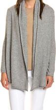 Cashmere Spirit Weiche Strickjacke aus reinem Kaschmir, Grau, Größe M