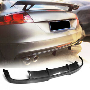 Carbon Fiber Rear Bumper Lip Diffuser Spoiler for Audi TTS 08-14 Audi TT 13-14