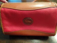 VINTAGE DOONEY & BOURKE  AWL RED/TAN  SHOULDER XBODY BAG USA AUTH. *LOOK*