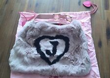 Juicy Couture 100% Rabbit Fur Bag Pink