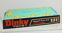 Dinky Toys 131 E Type Jaguar Speedwheels 1973 Original Card Base Plinth Display
