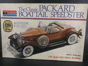 Monogram Classic Packard Boattail Speedster # 2301 1/24 Scale Model Kit