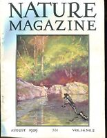 Nature Magazine August 1929 Frog VG No ML 020617jhe