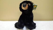 "NWT 12"" Plush Black Bear, Bass Pro Shops Floppies, Toy, Doll, Stuffed Animal"