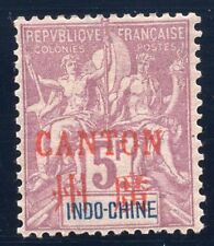 French Canton 1901,  Yv 16 red overprint MH  F/VF