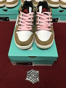 """Nike SB Air Force 2 Low Escape """"Brown"""" Pink Laces Size 11 OG Deadstock Rare"""