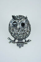 Womens Costume Jewelry Marcasite  Owl Stretch Ring one size fit most