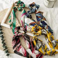 BT_ Women Vintage Tassel Chain Hair Scrunchie Elastic Ponytail Holder Headband N