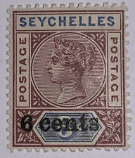 Travelstamps:1901 Seychelles Stamps Sg # 40 Surcharged Overprints,Mogh Mint