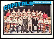 1976-77 O PEE CHEE OPC HOCKEY 149 WASHINGTON CAPITALS TEAM NM UNMARKED CARD