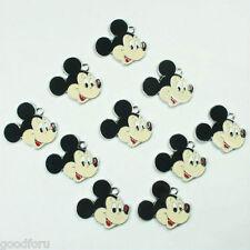 Lot Wholesale 10pcs Mickey Mouse Metal Charm Pendants Jewerly Crafts Making DIY