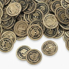 PIRATEs GOLD coins (HUGE LOT OF 144PC) GREAT FOR GIFT BAGS,PINATAS,PIRATE PARTY